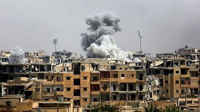 70 civilians killed, injured as US-led coalition warplanes pound Syrian town