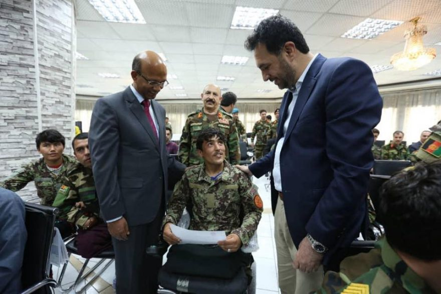 India helps handicapped Afghan soldiers with 100 modern, electric wheelchairs