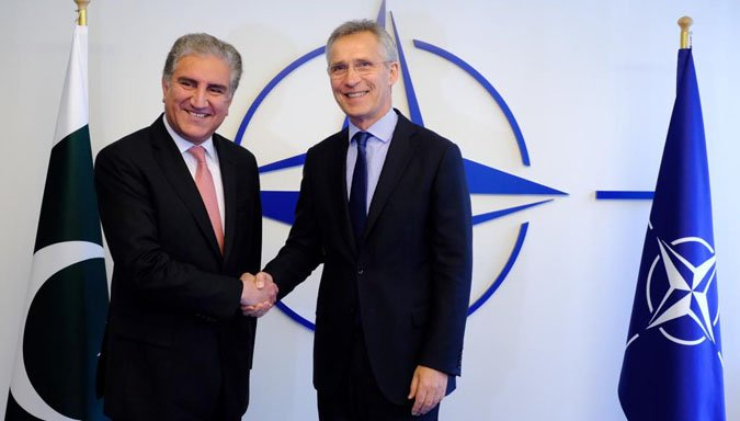 Intra-Afghan talks should start as soon as possible, NATO chief says in meeting with Pakistan FM