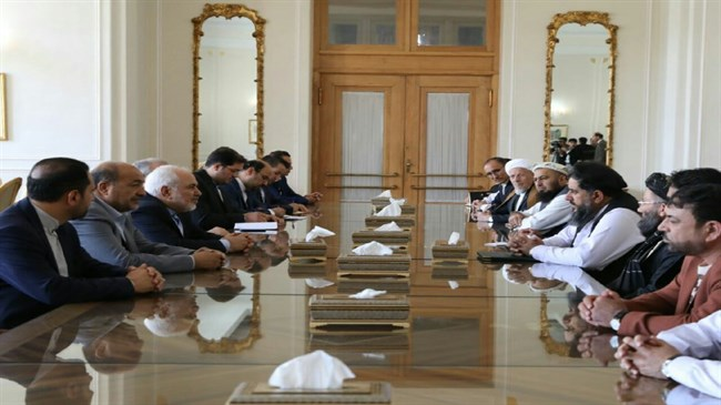 Fazal Hadi Muslimyar meets with Iran's FM in Tehran