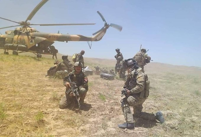 Special Forces arrest Taliban fighters, destroy cache of weapons in Balkh